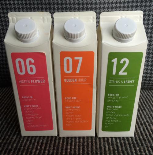 Organic juice in the box