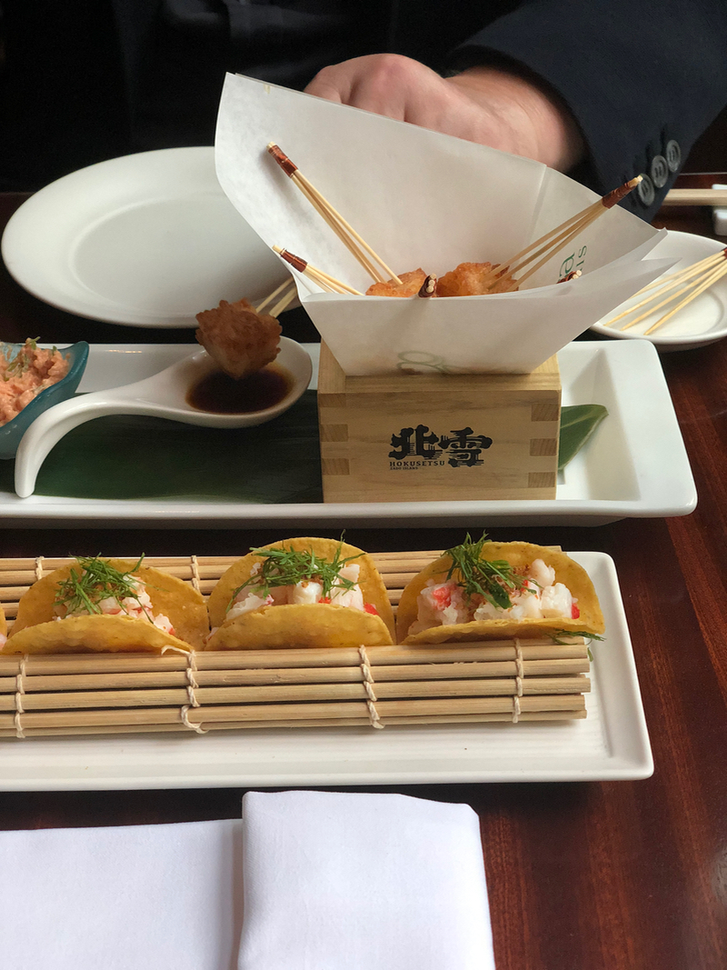 Matsuhisa - salmon tartare with caviar