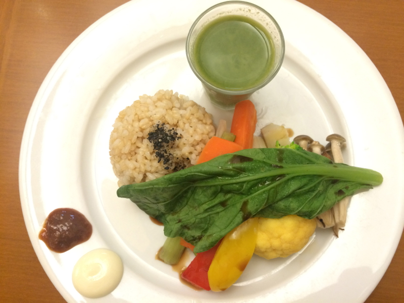 Macrobiotic plate as a healthy plane food