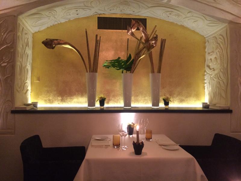 golden dining room