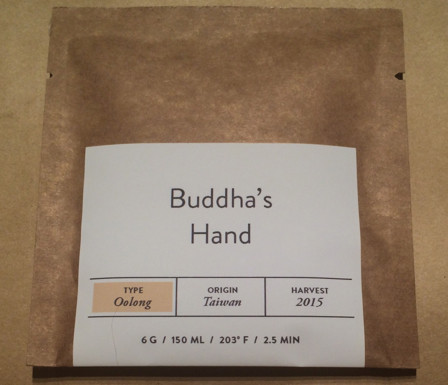 Buddha's hand oolong tea