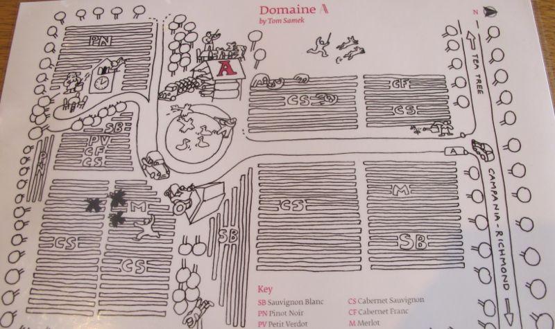 illustarted vineyard map