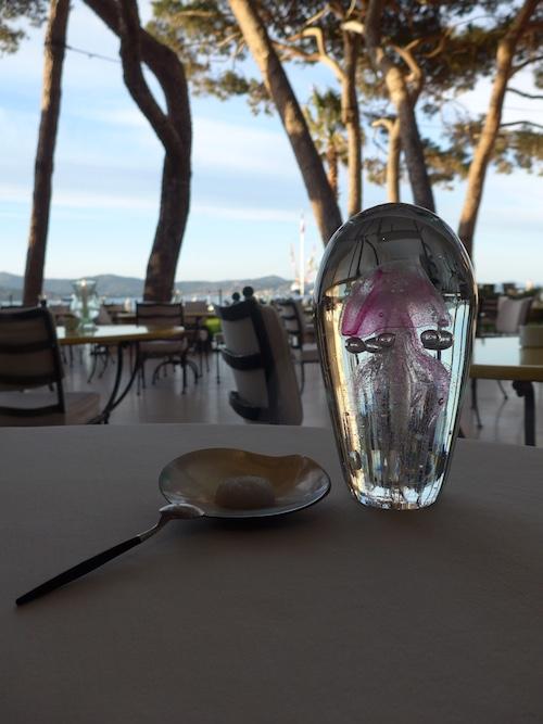 Three Michelin stared La Vague d'Or in St Tropez
