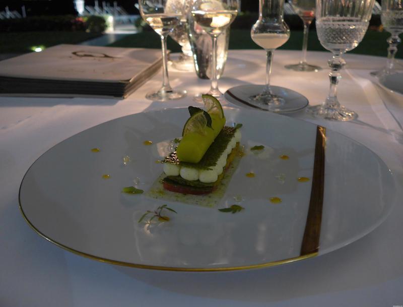 dessert at La Vague d'Or in Saint-Tropez