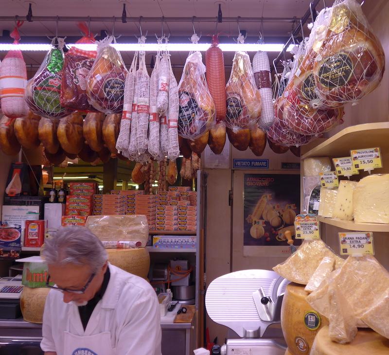 Parmesan and prosciutto ham