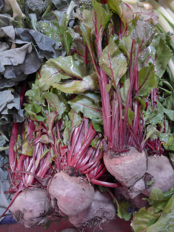 Beetroot on the market in Ventimiglia