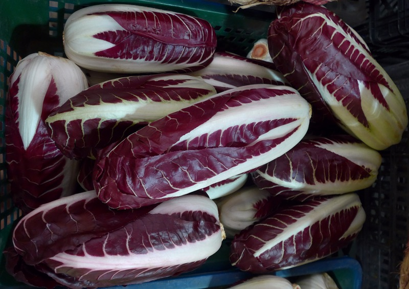 Red endives on the in Ventimiglia
