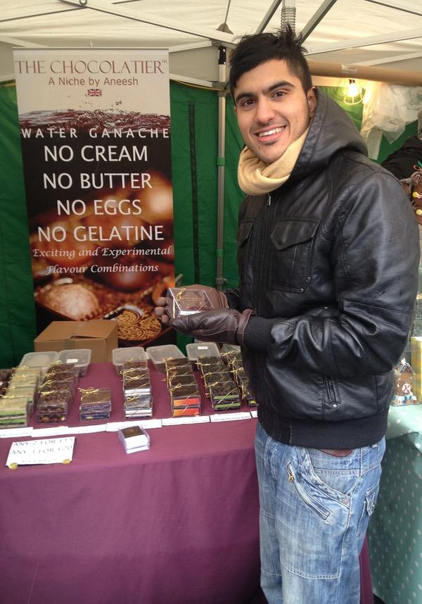 Aneesh Popat chocolate shopping in London