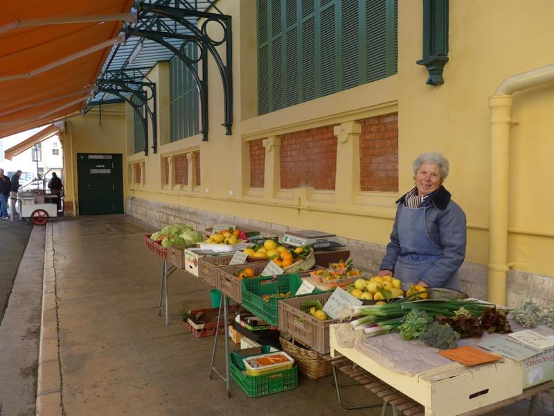farmer on a market in Menton