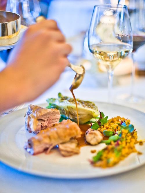 Three Michelin star restaurant by Alain Ducasse at Hotel de Paris in Monaco