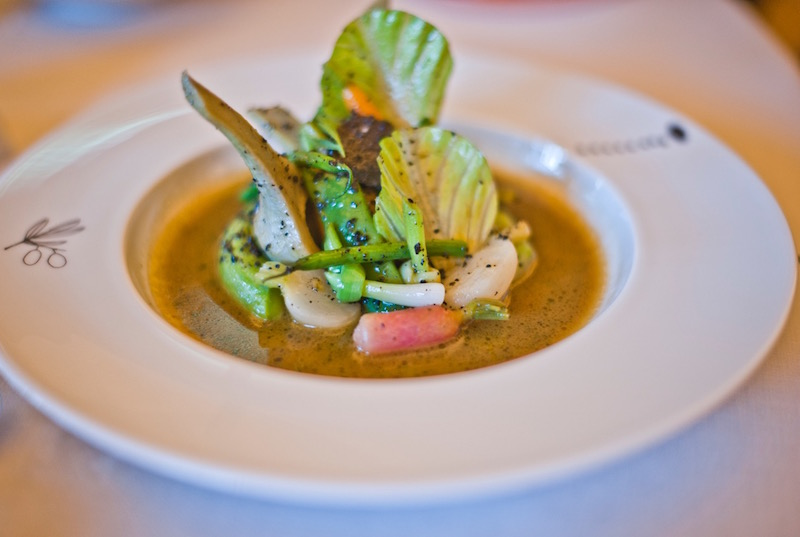 Vegetable based plate by Alain Ducasse