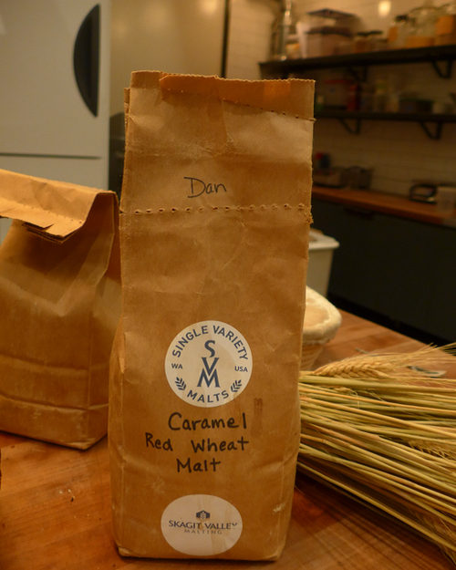Freshly milled bread flour at Blue Hill restaurant