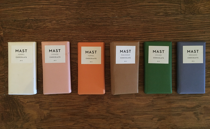 Mast chocolate London Herb Collection
