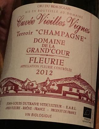 Organic Beaujolais wine