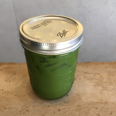 Matcha iced tea at Samovar Tea