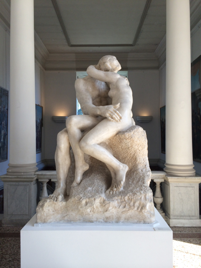Rodin's sculpture of happiness in love