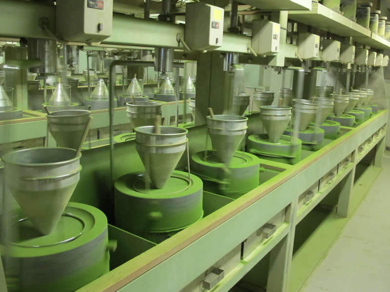 matcha tea production