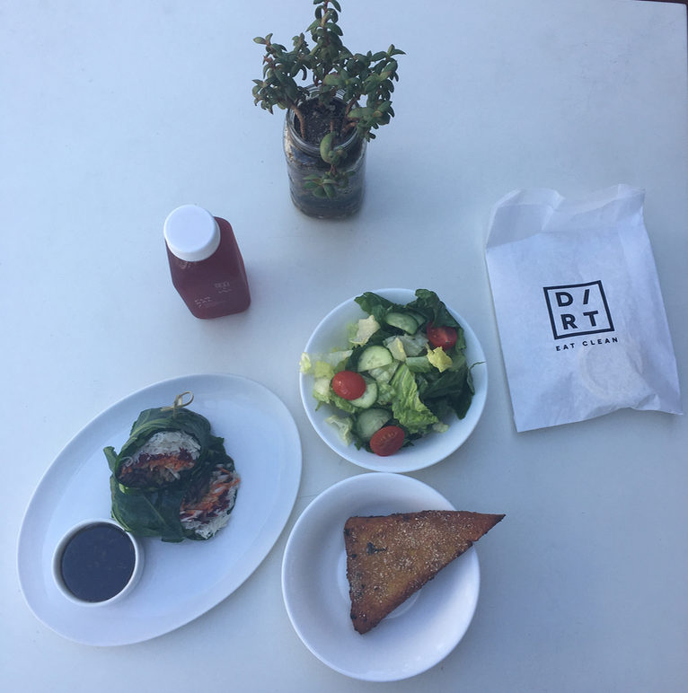 Vegan lunch in South beach Miami