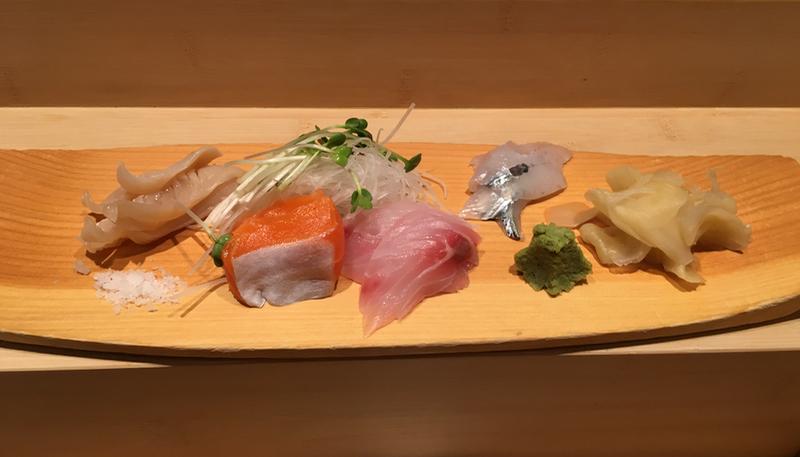 Sashimi platter at Yasuda