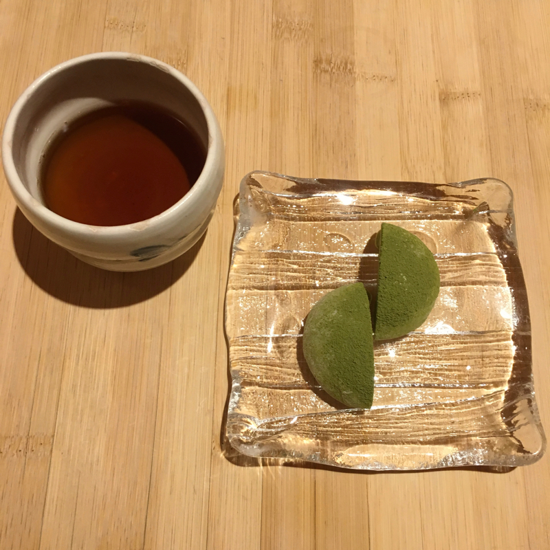 Japanese mochi and tea