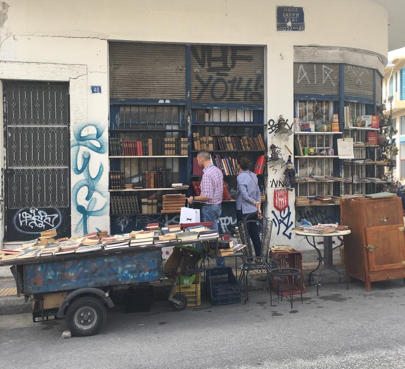 Antique book shop in Psiri