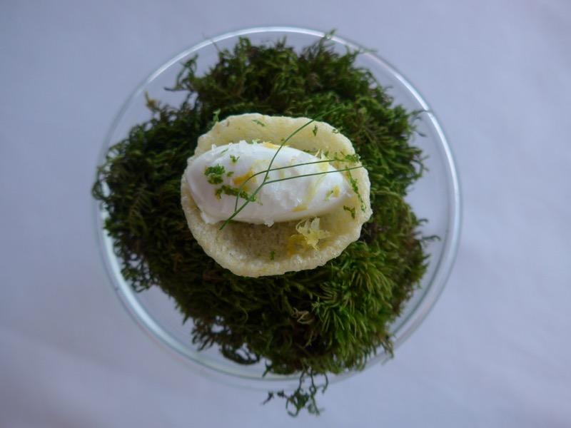 Minimalist sea plate at Mirazur restaurant