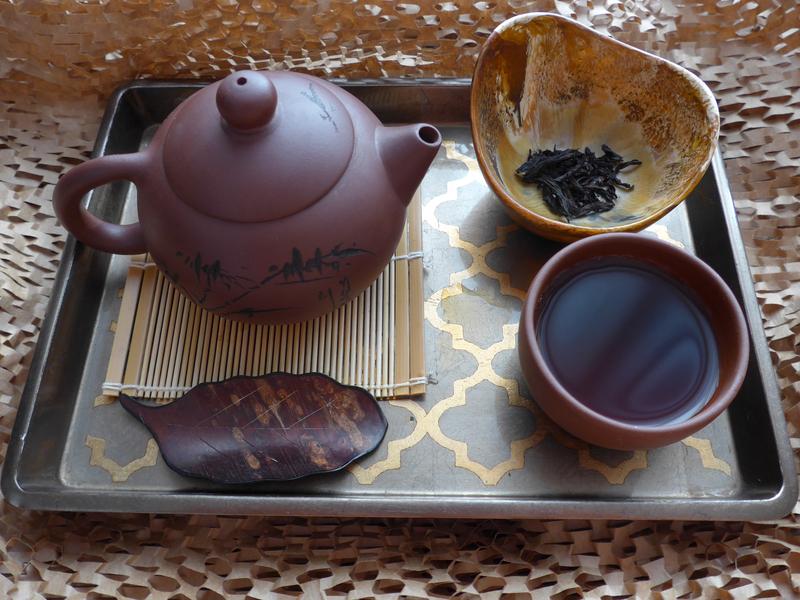 oolong tea brewing