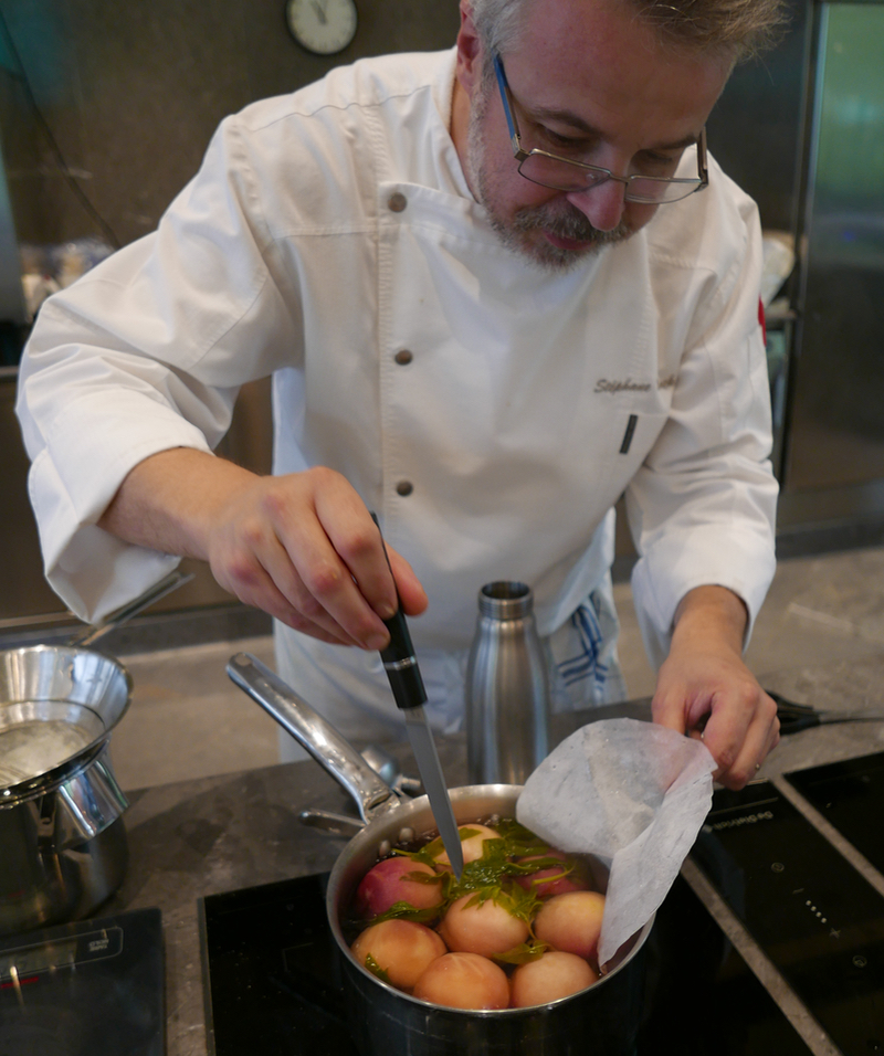 chef Stéphane Mack at Michel Guérard Culinary Institute