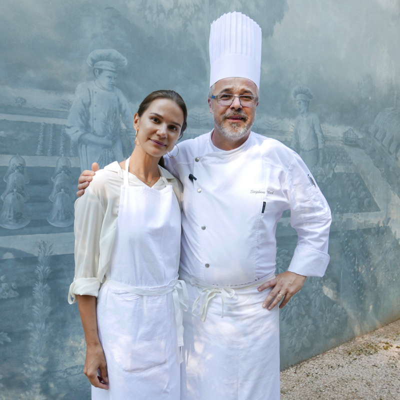 Radka Beach with chef Stéphane Mack at Culinary School of Michel Guérard