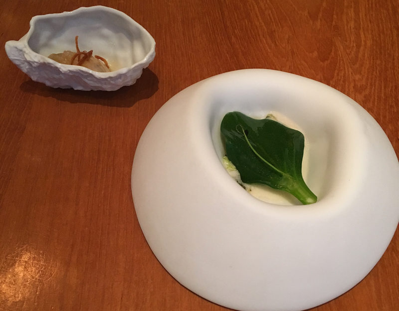 Oyster leaf over abalone