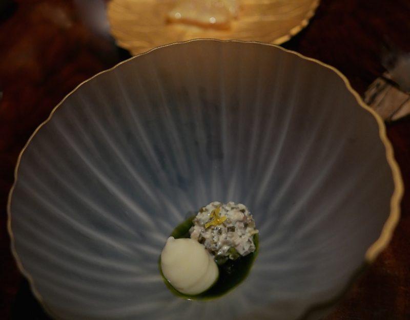 Vegetarian meal at Atelier Crenn