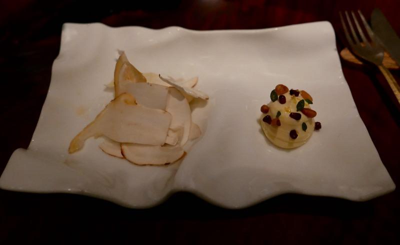 Vegetarian dish at Atelier Crenn