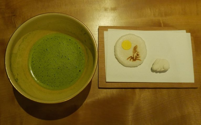 Japanese sweets and matcha