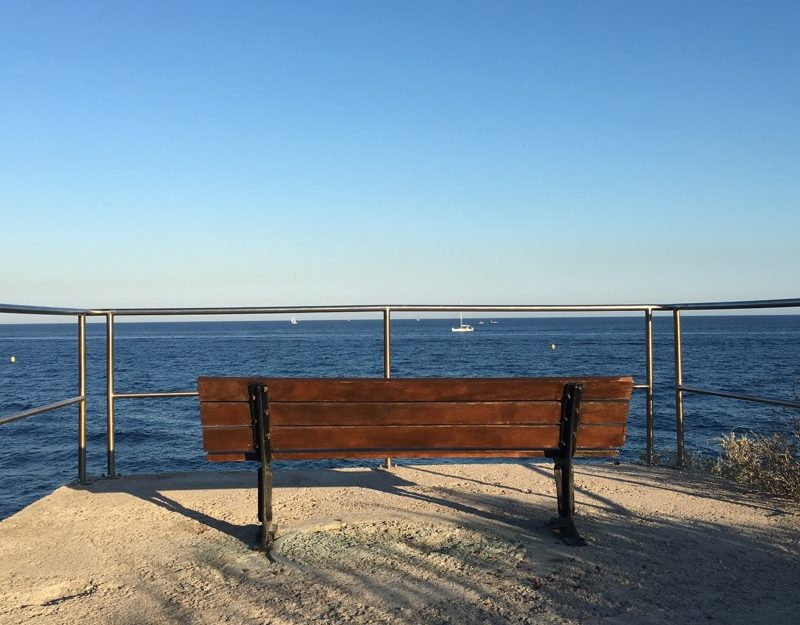 bench by the sea