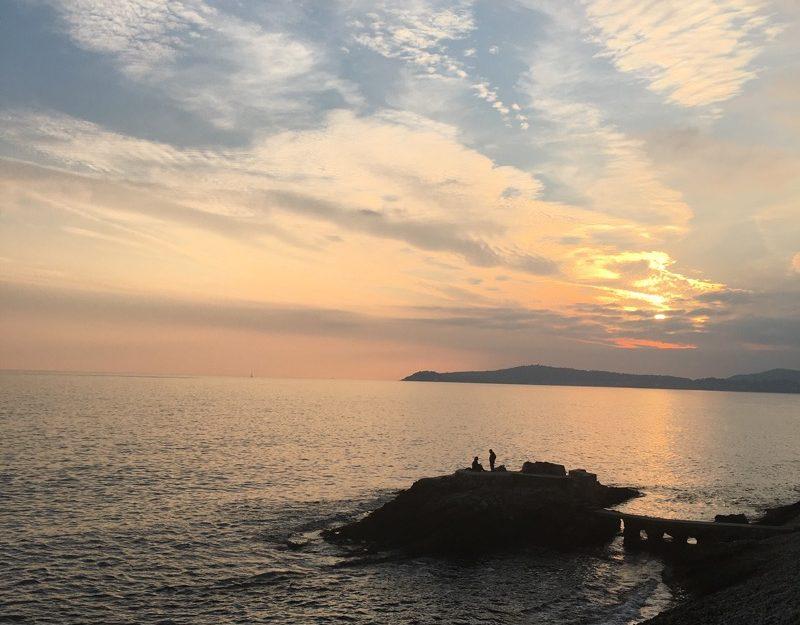 Dramatic sunset over Cap Ferrat