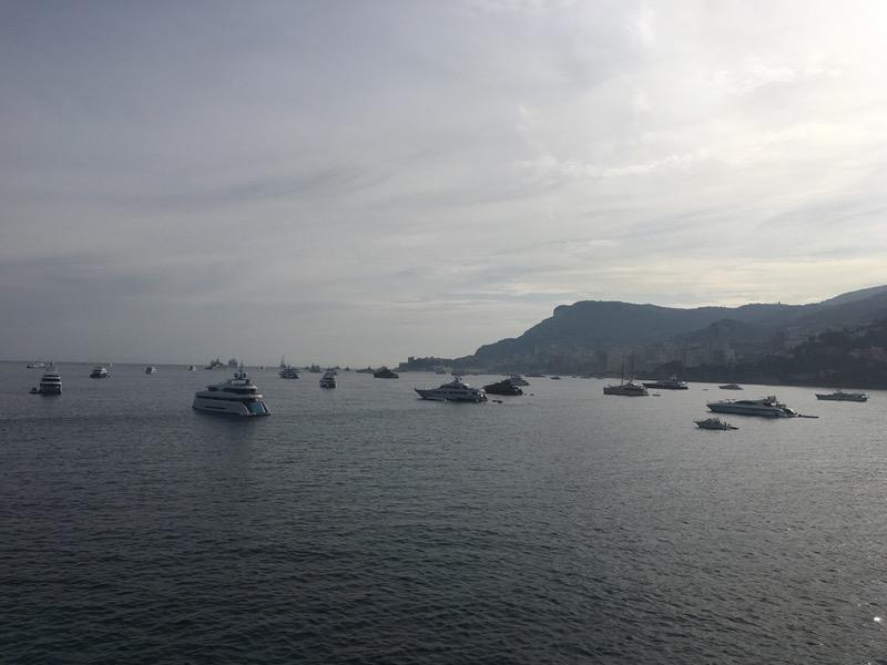 Yachts sunset Monaco