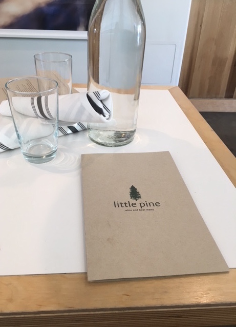 Little Pine restaurant menu