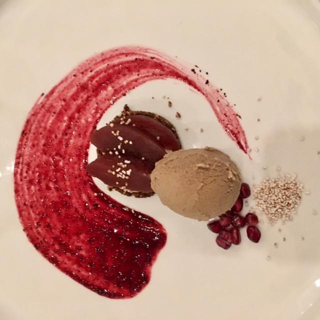 Dessert by pastry chef Leslie Bilderback for n/naka