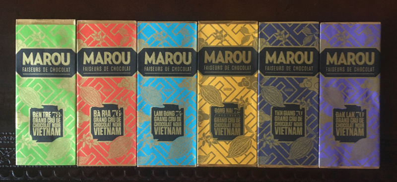Marou dark chocolate bars from Vietnam