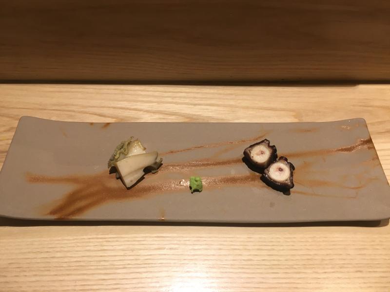 Awabi, tako at Sushi Amane NYC