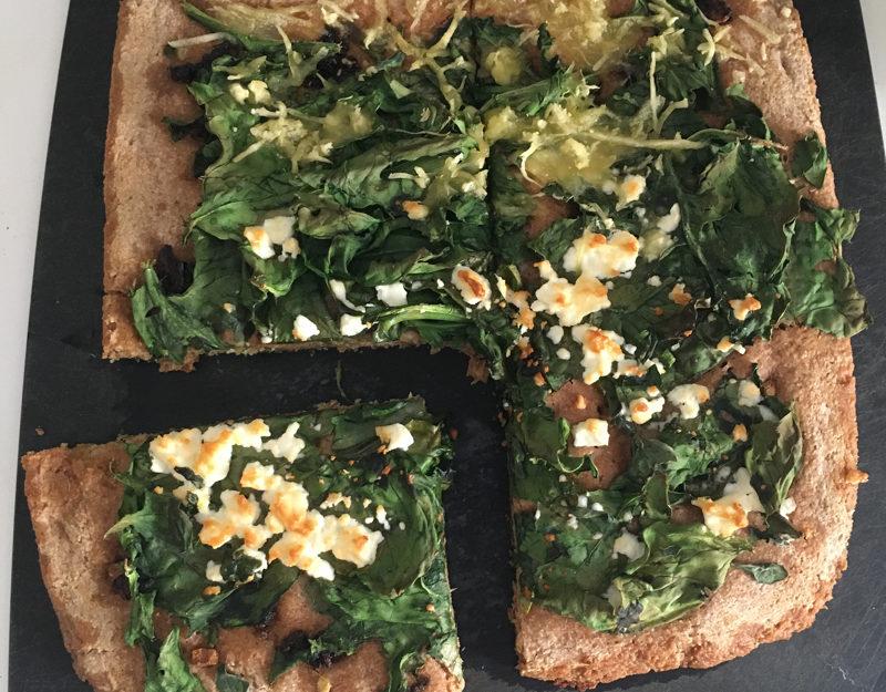 Spinach and feta whole-grain foccaccia