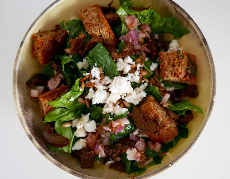 Gjelina spinach salad recipe
