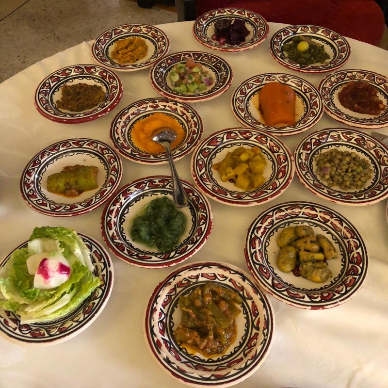 Moroccan cuisine at Al-Fassia restaurant