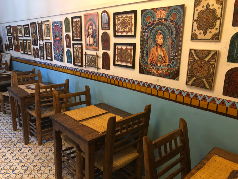 art cafe in Marakech