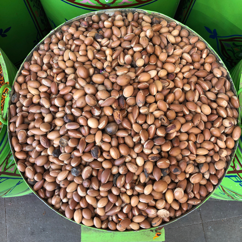 Raw argan nut