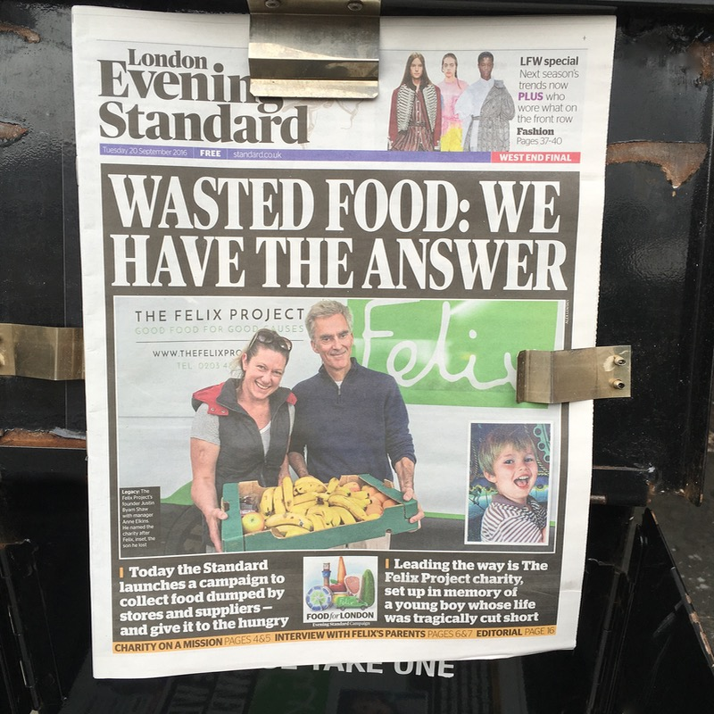 food waste in the media