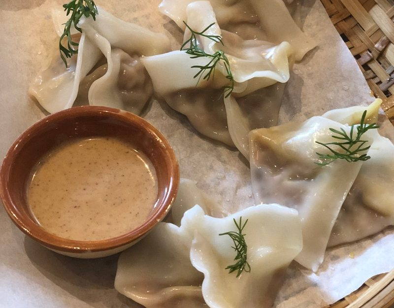 Chinese vegan dumplings