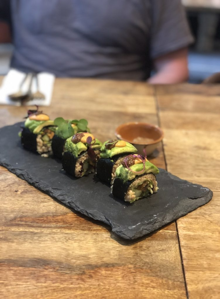 vegan sushi at Grassroots Pantry