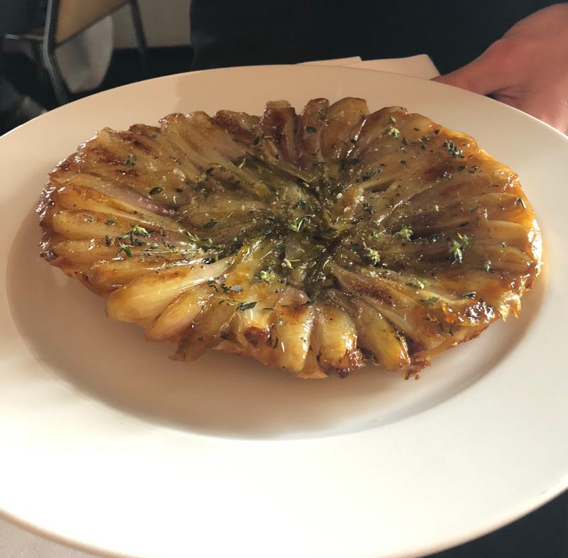 onion tart at l'Arpege