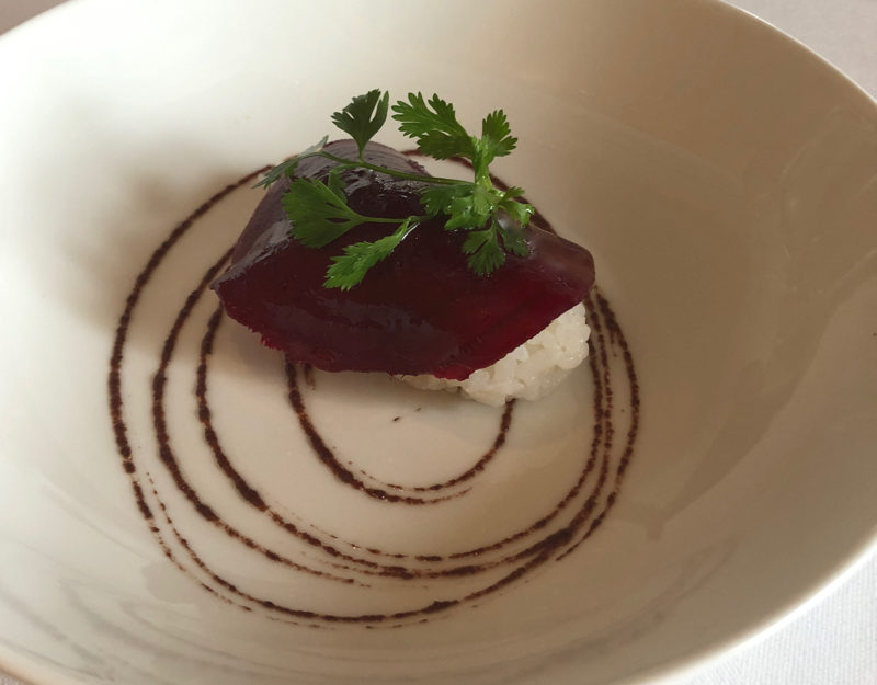 three Michelin star vegetarian sushi